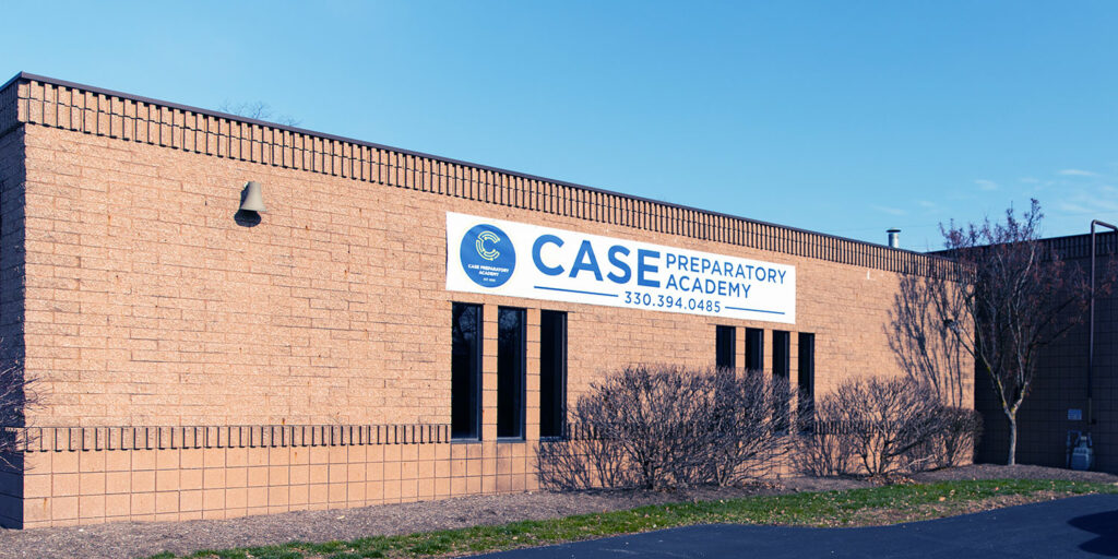 Outside sign for Case Preparatory Academy